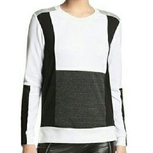 AIKO Geometric Color Block Sweatshirt EUC